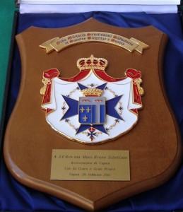 Crest Ordine Militare di S. Brigida donato a S. E. Mons. Schettino Arcivescovo di Capua