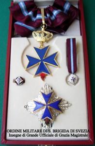 Croce e Placca di Gr. Ufficiale di G.M. dell'Ordine Militare di S. Brigida