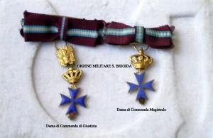 Croci in miniatura per Dama di Giustizia e Grazia Magistrale