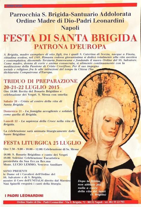 Celebrazioni dell'Ordine Militare di S. Brigida a Napoli